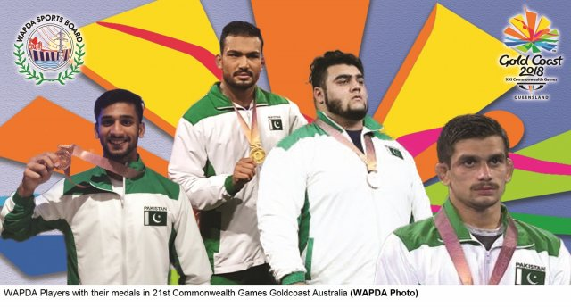 WAPDA PLAYERS SHINE IN COMMONWEALTH GAMES; WIN 1 GOLD, 3 BRONZE MEDALS FOR PAKISTAN